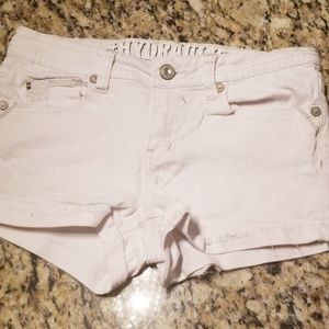 Hydraulic White Jean Shorts
